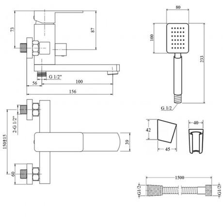 Смеситель для ванны Lidz (NKS) 10 30 006-1