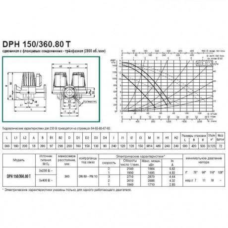 Насос циркуляционный промышленный DAB DPH 150/360.80 T (official, 505978122)