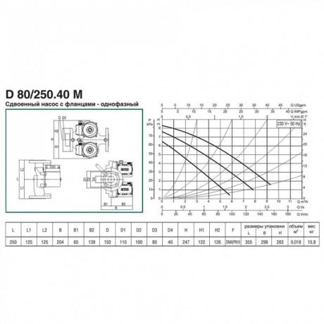 Насос циркуляционный бытовой DAB D 80/250.40 M (official, 505826041)