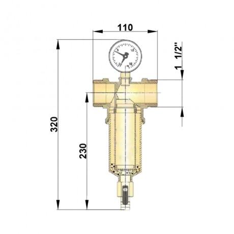 """Самопромывной фильтр Icma 1"""" 1/2 ВР №750"""