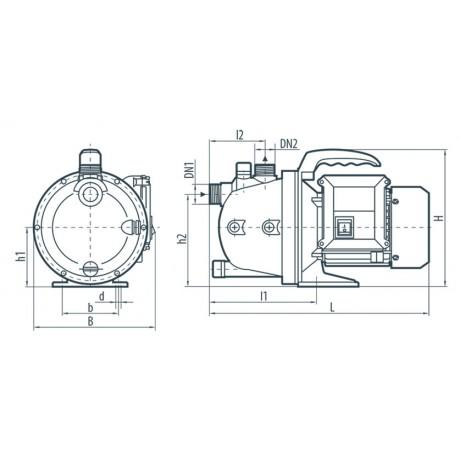 Центробежный поверхностный насос Насосы+Оборудование Garden-JP 1,2-25/0,6 112091