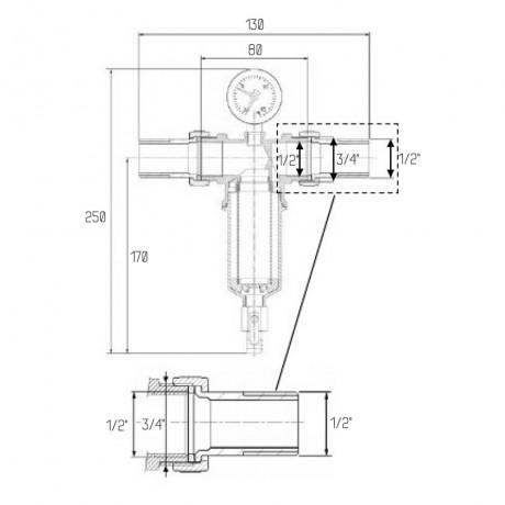 """Самопромывной фильтр Icma 1/2"""" №751"""