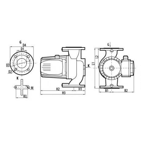 Циркуляционный насос Sprut GPD 8-8-400 DN40 122170