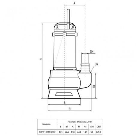 Дренажно-фекальный насос Rudes DRF 1100 MIXERF 47869