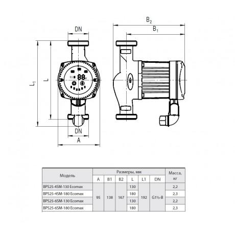 Циркуляционный насос Насосы+Оборудование BPS 25-6SM-180 Ecomax 87442