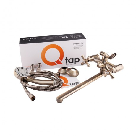 Смеситель для ванны Qtap Liberty ANT 140