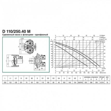 Насос циркуляционный бытовой DAB D 110/250.40 M (official, 505828001)
