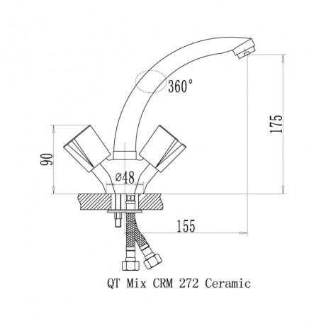 Смеситель для кухни Qtap Mix CRM 272