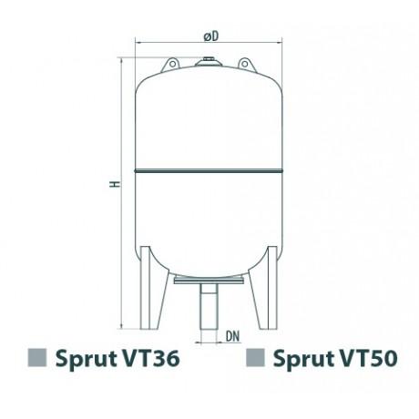 Расширительный бак Sprut VT 50 7910
