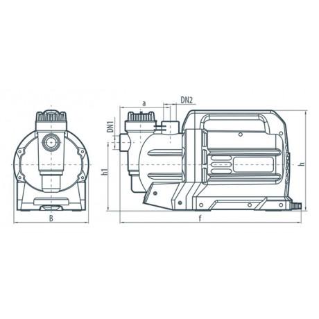 Центробежный поверхностный насос Насосы+Оборудование Garden-JLUX 2,4-35/1,3 112088