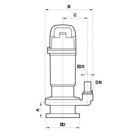 Дренажный насос Sprut QDX 1,5-32-0,75 7278