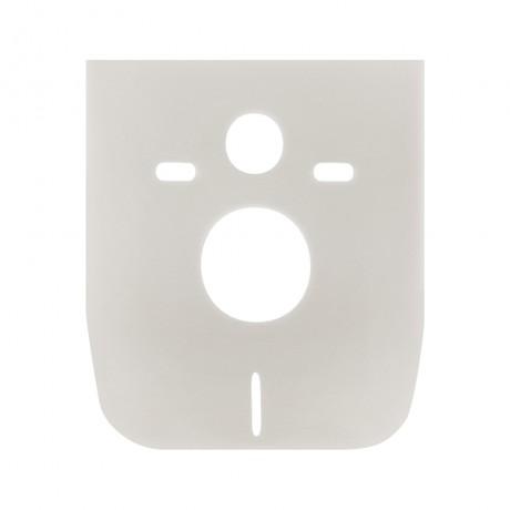 Набор инсталляция 4 в 1 Qtap Nest ST с квадратной панелью смыва QT0133M425M06028CRM