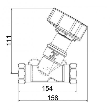 """Балансировочный вентиль Icma 2"""" №C299"""