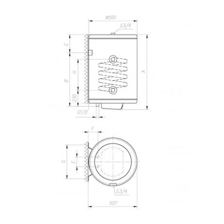 Бойлер Gorenje GBK 100 LN/V9 комбинированный бойлер косвенного нагрева