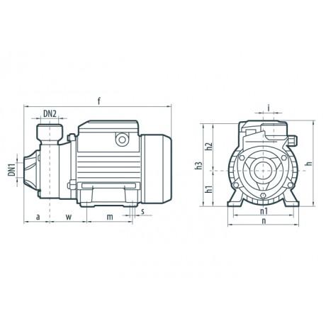 Вихревой поверхностный насос Насосы+Оборудование QB 70 3326