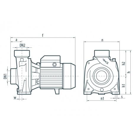Центробежный поверхностный насос Насосы+Оборудование DTm 30 112097