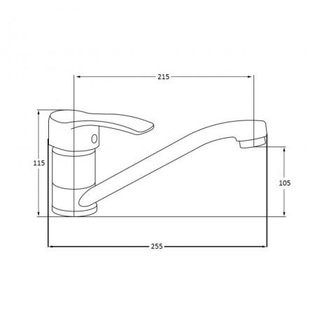 Смеситель для кухни Lidz (CRM) 20 38 003 00